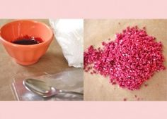 Natural food dye - making colored sugar