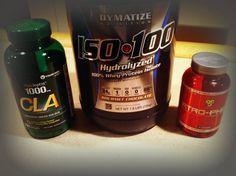 My goodies   #CLA  #Dymatize Whey Protein Isolate  #BSN Atrophex