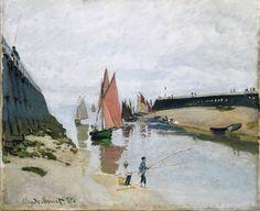 Claude Monet, Breakwater at Trouville, Low Tide on ArtStack #claude-monet #art