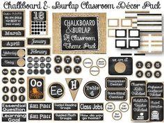 Chalkboard & Burlap EDITABLE Classroom Decor Pack by The Learning Tree | Teachers Pay Teachers