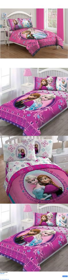Kids at Home: Kids Comforter Sets For Girls Full Twin Single Bed Frozen Bedroom Fitted Sheet BUY IT NOW ONLY: $59.99 #priceabateKidsatHome OR #priceabate