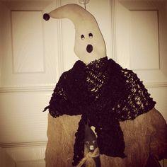 Primitive Halloween Ghost Door Greeter Ready by Rabbithollowprims, $28.95