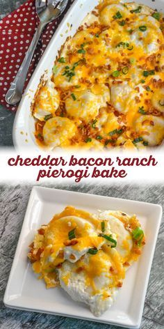 Turn a bag of frozen pierogi into the most comforting casserole ever with this cheddar bacon ranch pierogi bake. With smoky bacon, smooth cream cheese and big ranch flavor, this dish pleases the whole family. Pasta Dishes, Food Dishes, Main Dishes, One Pot Meals, Easy Meals, Easy Casserole Recipes, Perogies Casserole Recipe, Baked Pierogi Recipe, Gourmet