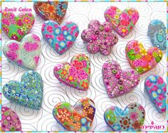 polymer clay ideas | Fimo Hearts | Polymer clay ideas/ clay/ salt dough art