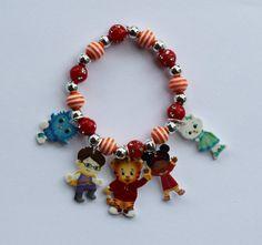 Daniel Tiger's Neighborhood Charm Bracelet by StinkyPinkCreations