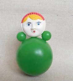 Vintage Roly Poly Toy Doll. Nevaliashka. Soviet Era by SOVOK