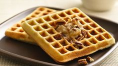 Make sweet breakfast waffles that get an easy start from Pillsbury® refrigerated cookie dough!