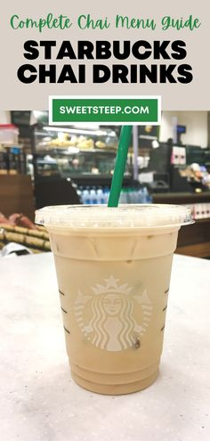 All your questions about Starbucks chai tea drinks are answered here. See what's on the Starbucks chai tea menu, hot and iced, as well as more info about each drink. #starbucks #chai #chaitea #drinks #latte #orders #menu Starbucks Tea, How To Order Starbucks, Iced Chai Tea Latte, Tea Drinks, Latte Recipe, Brewing Tea, Tea Recipes, Drinking Tea, Tea Time