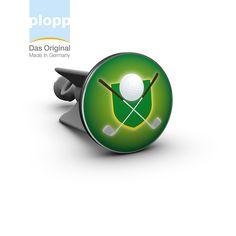 plopp Waschbeckenstöpsel Golf Wappen grün  #golf #sport #gift #Badezimmer #Bathroom #plopp #Geschenkidee #Golfer