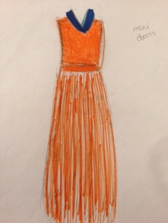 A summer maxi designed by me!