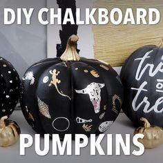 DIY No-Carve Chalkboard Pumpkins for Halloween