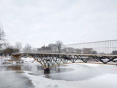 "Projects by Ney & Partners Structural Engineering : Pont ""Rode Toren"", Zwolle. Beam Bridge, Bridge Structure, Steel Bridge, Steel Deck, Pedestrian Bridge, Tower Bridge, Bridge Design, Civil Engineering, Old City"