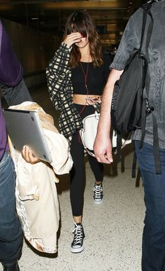 Selena Gomez arriving at LAX - August 2016