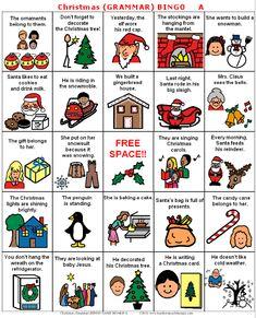 Christmas grammar bingo. She has more Christmas themes for free as well