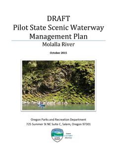 Draft pilot state scenic waterway management plan : Molalla River, by the Oregon State Parks and Recreation Department