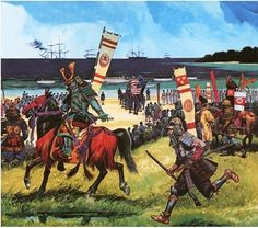 Americans arriving in what is now Tokyo Bay on 8 July 1853. By Dan Escott