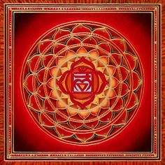 First Chakra Root or Base Kundalini Reiki, Chakra Meditation, Chakra Healing, Mandala Art, Chakra Raiz, Muladhara Chakra, 7 Chakras, Chakra Stones, Sanskrit