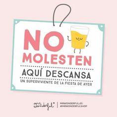 No molesten