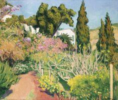 blastedheath:  Albert Marquet (French, 1875-1947), La maison dans les arbres, Algiers 1944. Oil on canvas, 54.2 x 65cm.