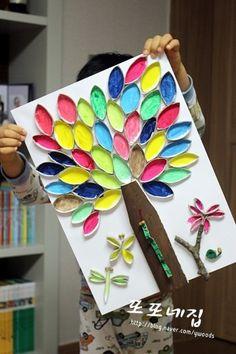 Diy Arts And Crafts, Fall Crafts, Diy Crafts, Craft Activities For Kids, Preschool Crafts, Diy For Kids, Crafts For Kids, Paper Roll Crafts, Toddler Art