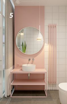 Pastel pink bathrooms, hot pink bathrooms, pink bathroom tiles, pink bathroom sets, pink basins and pink vanities. These pink bathroom ideas have it all & more. Hot Pink Bathrooms, Bathroom Sets, Modern Bathroom, Bathroom Pink, Bathroom Colours, Bathroom Vintage, Bathroom Images, Pink Bathroom Accessories, Home Decor Accessories