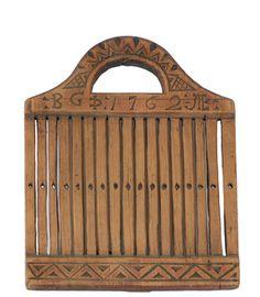 Båndvev, dat. 1762. (19x15cm)