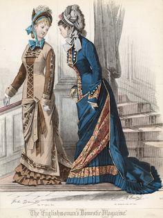 April fashions, 1877 England, The Englishwoman's Domestic Magazine