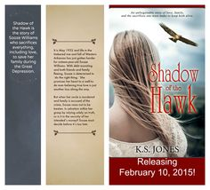 "SHADOW OF THE HAWK releasing February 2015 by Astraea Press! A wonderful ""Great Depression"" novel!"