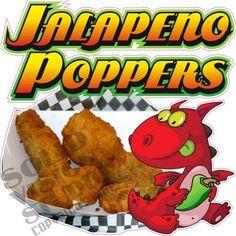 "14"" Jalapeno Poppers Fun Appetizer Restaurant Bar Concession Trailer Sign Decal  #SolidVisionStudio"