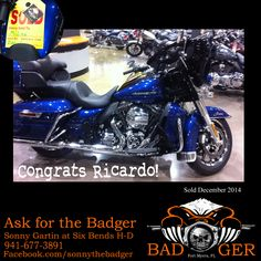 Congrats Ricardo on getting your new #Harley from Six Bends Harley Davidson