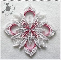 Christmas Tree Ornament - by: Quilling Boszi: - Quilling Paper Crafts Paper Quilling For Beginners, Paper Quilling Tutorial, Paper Quilling Patterns, Quilling Techniques, Neli Quilling, Quilling Paper Craft, Paper Crafts, Quilling Ideas, Quilling Christmas
