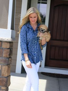 Chambray, Puppy, Home, White Denim  www.katalinagirl.com