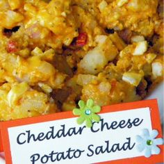 My Year on the Grill: Cheddar Cheese Potato Salad - Recipe to serve 70 Onion Recipes, Salad Recipes, Potato Recipes, Soup And Salad, Salad Bar, Pasta Salad, Appetizer Sandwiches, Appetizers, My Favorite Food