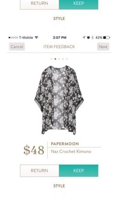 Papermoon NAZ Crochet Kimono. Would love to have this is a Fix. I love this sort of thing...