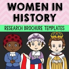 Women in History Research Brochure Biography Templates, Wo