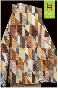 """This striking quilts uses your favorite collection of 10"""" squares or an assortment of 1/3 yard cuts. Choose an assortment of light, medium and dark fabrics. Batiks look great with this pattern. Finish"""