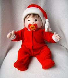 Cloth Baby Doll with 2 outfits Soft Sculpture Doll