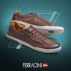 Para quem deseja um visual despojado no final de semana ou para o batidão da semana, nós indicamos o modelo 8020C da linha Lenox.  O que acharam?  #ferracini24h #shoes #cool #trend #brasil #manshoes