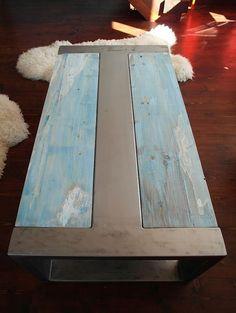 Handgemaakte rustieke teruggewonnen hout & staal industriële