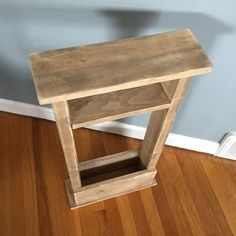 Skinny Sofa Table End Table Apartment Decor Small By NewLoveDecor