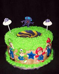 All sizes | Mario Louigi cobalt star cake | Flickr - Photo Sharing!