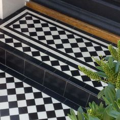 Photos featuring our design, consultation and sheeted tile supply. Victorian, Edwardian, Georgian and contemporary ceramic tile designs. Victorian Front Garden, Victorian Front Doors, Victorian Porch, Victorian Tiles, Front Door Steps, Porch Steps, Front Path, Exterior Tiles, Exterior Doors
