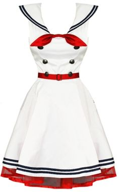 im drawing this dress onto my pin up for Fish and Ships card deck. I cannot wait for this project to be over. My hands are killing me. Sailor Fashion, Blue Fashion, Retro Fashion, Vintage Fashion, Pin Up Dresses, Cute Dresses, Summer Dresses, Card Deck, Vintage 1950s Dresses