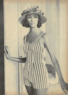 Playsuits were big for women and young gals in summer of 1958