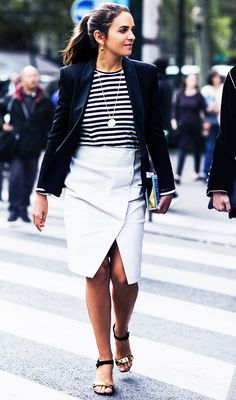 The Who What Wear Striped Shirts Photo Directory via @WhoWhatWear