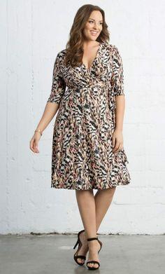 Essential Wrap Dress - Pink Safari Print