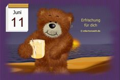 Juni, Tricks, Teddy Bear, Night, Toys, Animals, Day Of Year Calendar, Gif Pictures, February