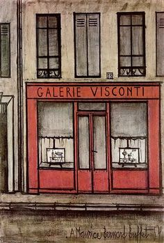 Bernard Buffet // Galerie Visconti - 1954 // huile sur toile 81 x 54 cm ©ADAGP
