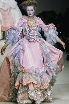As We Post 11 Antics-Filled Shows From Galliano, Gaultier, Mugler, and Westwood, We Ask: Where Has the Fun Gone? Rococo Fashion, Royal Fashion, Vintage Fashion, High Fashion, Couture Fashion, Runway Fashion, Street Fashion, 2000s Fashion, Fashion Show Collection