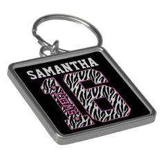 Personalized Sweet Sixteen Keychain